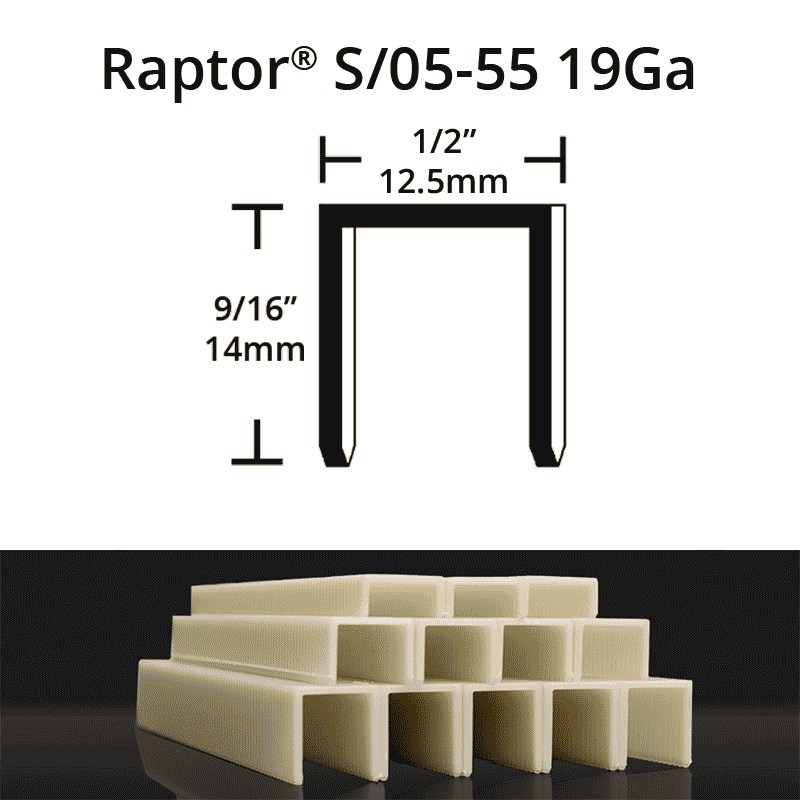 Raptor S05-55 composite plastic staples