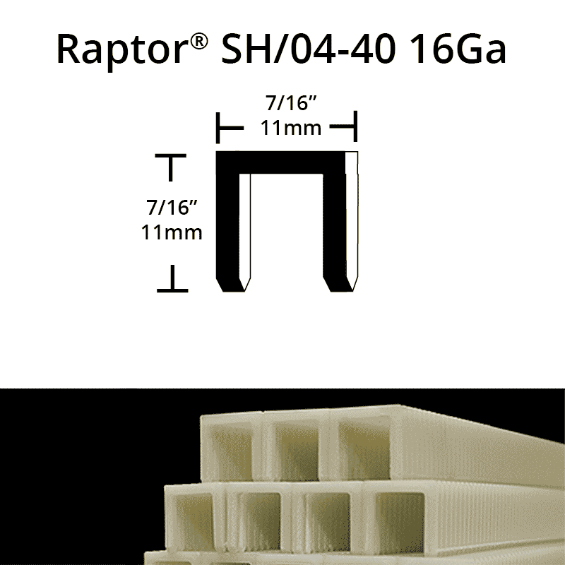Raptor SH04-40 composite plastic staples
