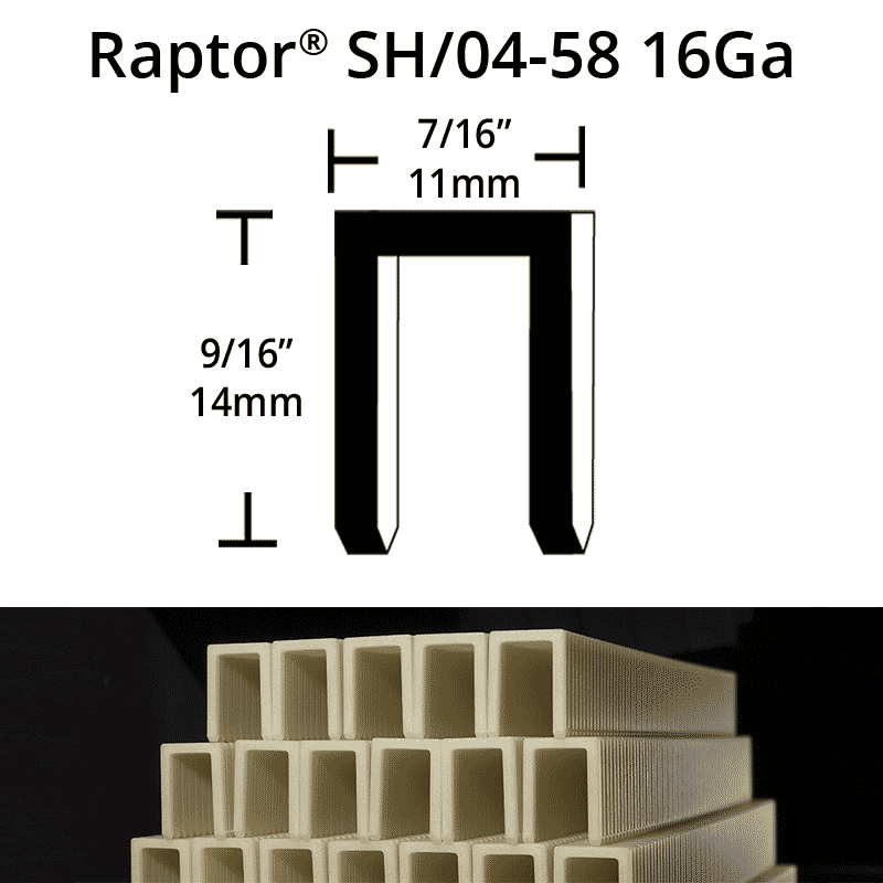 Raptor SH04-58 Composite Plastic Staples