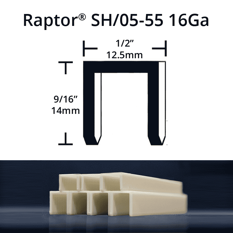 Raptor SH05-55 composite plastic staples